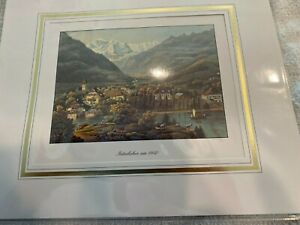 Matted Picture / Print of the Interlaken 1840 Edition Photoglob SA, Zurich 94498