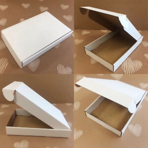 "50 x White Postal Subscription Mailing Cardboard Box 5.5 x 8.8 x 1.3"""