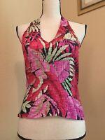 Cache Shirt Top Size M Medium Multi Color Halter Top