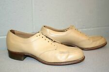 New listing Vtg 1940s 7 Aa Dr Miss Nurse Shoe Tan Goodyear Wingfoot Heel Leather Oxford 40s