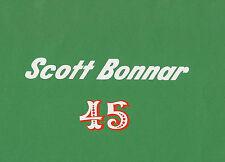 Scott Bonnar Model 45 Vintage Mower Chain Cover Decal