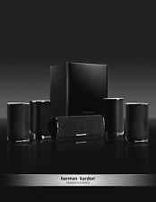 HARMAN KARDON HKTS-9 LAUTSPRECHERSYSTEM KOMPLETT 500 WATT / BLACK / OVP / NEU !