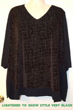 CATHERINES PLUS size 3X 26 28W 4X WOMEN'S shirt blouse top velvet embellished