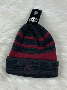 Cleveland Cavaliers NBA Cuff Knit Embroidered Winter Beanie Hat Blacked Out Logo