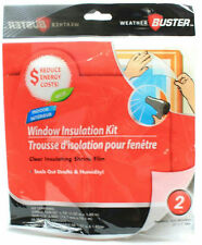 "2 Window Insulation Kit Shrink Film & Tape KEEP THE HEAT IN!! SAVE $ - 60"" X 72"""