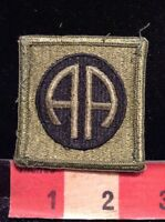 82nd AIRBORNE US ARMY MILITARY PATCH ~ Subdued AA Infantry Division SSI 62AA