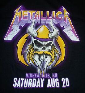 Metallica Minneapolis Vikings Skull Men's S (Small) T-Shirt - New - 2016 Tour