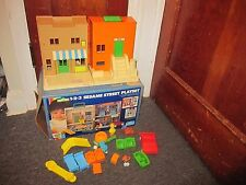 Vintage Sesame Street 123 Playhouse Hooper's Store Figures Furniture Child Guide
