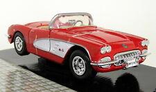 Chevrolet Corvette Cabriolet 1959 Red White Motormax 1:24 MTM73216R