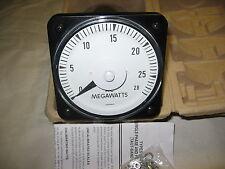 Yokogawa 103251A-RHC7/BKD ---- 0-28 Megawatts Wattmeter Gauge 0-28 Megawatt