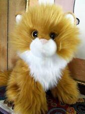 "Kitty Cat Stuffed Plush Animal Ty 12"" Golden Long Hair Angora Persian"