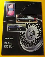 1993 BMW  MODEL LINEUP SHOWROOM SALES BROCHURE...16 PAGE FOLDOUT