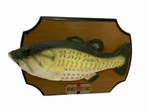 Big Mouth Billy Bass Singing Fish Take Me to the River 1999 Partially Working