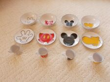 Disney Mickey Mouse Body Parts , Set of 4 Cups, Plates & Bowls