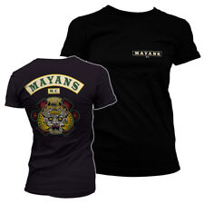 Officially Licensed Mayans M.C. - Backpatch Women's T-Shirt S-XXL Sizes