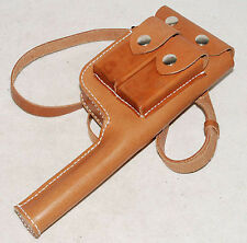 WW2 GERMAN MAUSER C96 BROOMHANDLE LEATHER HOLSTER