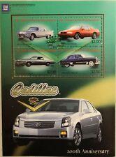 ST VINCENT 2003 Klb 5839-42 Block 614 Cadillac Automobile Vintage Cars Autos MNH