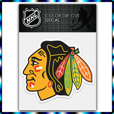 "Chicago Blackhawks NHL Die Cut Vinyl Sticker Car Bumper Window 3.6""x4"""