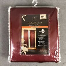 """Bleeker Blackout Panel Curtains 54"""" X 84"""" Red New In Package"""