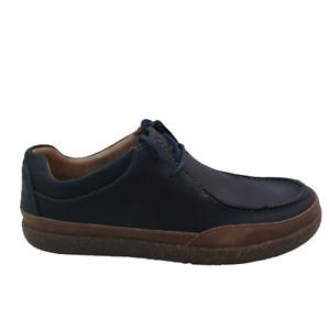 Clarks Un Lisbon Walk 49691 Men's Blue Leather Oxfords Plain Toe Shoes sz 8 M