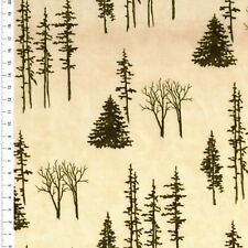 "(€ 16,00/m) Patchwork Tessuto-Natale - ""through the winter Woods"" - 25 x 110cm"