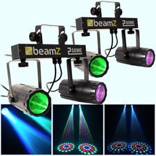 2x Beamz 2-some LED RGBW 2-way Lights Mobile DJ Disco Party Lighting