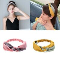 Hair Band Cross Knotted Hair Accessories Color Matching Headband Fashion