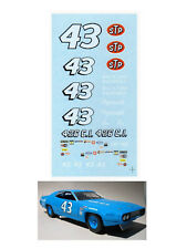 Richard Petty #43 Plymouth 1967-70 1/64 scale decal AFX Tyco Lifelike Autoworld