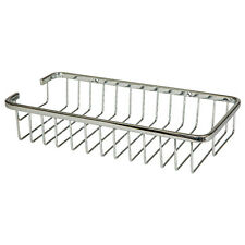 Large Soap Shower Basket Bathroom Chrome Wire Work Accessories H904