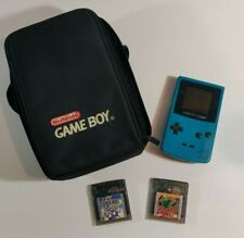 Nintendo Game Boy Color Handheld Console - Teal. Used. 2 Games and Case. Tested!