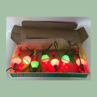 Vintage Christmas 7 Paramount Bubbling Lights with Kliptons In Original Box
