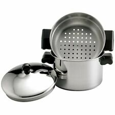 Stainless Steel Steam Sauce Pot And Steamer Stack Vegetable Rice Soup Farberware