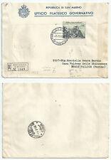 SAN MARINO FDC 1958 VEDUTE LIRE 500
