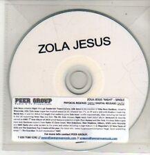 (CM796) Zola Jesus, Night / I Can't Stand - DJ CD