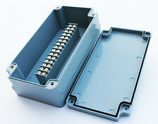 TERMINAL BLOCK ENCLOSURE, 15 POSITION, 15 AMP, IP65, 200X100X65mm, GRAY, 1009