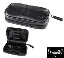 Angelo Pfeifentasche schwarz - 2 Pfeifen - mit herausnehmbarem Tabakbeutel