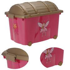 XXL Rollbox Spielbox Prinzessin Kinder Aufbewahrung Container Box Schatztruhe