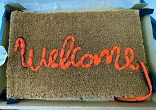 IN HAND - ORIGINAL BANKSY WELCOME MAT GROSS DOMESTIC PRODUCT UN SIGNED WITH TAG