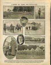 US Army Camps of Plattsburg Major-General O'Ryan General Scott & Baker 1917 WWI