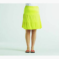 No Pattern Casual Cotton Skirts Plus Size for Women