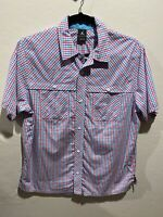 Air Jordan Mens Red Blue Purple Long Sleeve Button Down Shirt Size XL 90's 2000s