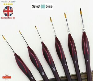 6Size Brush Fine Detail Sable Art Model Thin Craft Miniatures Nail Paint Brushes