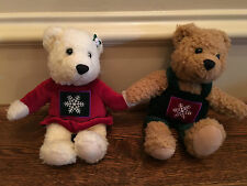 Hallmark Kiss Kiss Mistletoe Christmas Bears Boy & Girl Velcro hands