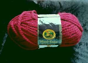 LION BRAND Wool-Ease THICK & QUICK KNITTING YARN NEW DEEP RICH CRANBERRY #138