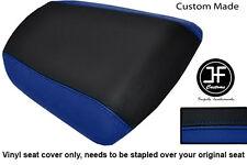 R BLUE BLACK VINYL CUSTOM FITS KAWASAKI NINJA ZX6R 636 A1P 98-03 REAR SEAT COVER