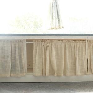 Short Curtain Cotton Linen Half Small Curtains Kitchen Cafe Cabinet Window Drape