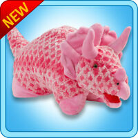 "Authentic Pillow Pets Dinosaur Dino Pink Triceratops Small 11"" Plush Toy Gift"