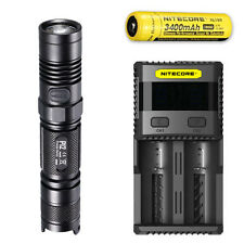Nitecore P12 XM-L2 U2 Flashlight w/ SC2 Charger & NL189 Rechargeable Battery