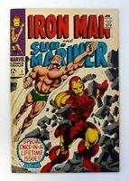 IRON MAN & SUB-MARINER # 1 Marvel Comics Pre-Dates Iron Man # 1 VF+ 1968