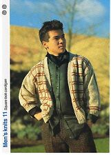 Carré Look Cardigan Knitting Pattern-Marshall Cavendish brochure MK11